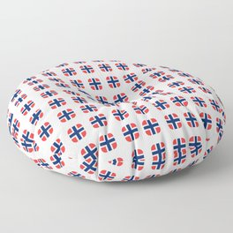 flag of norway - with soft square Floor Pillow