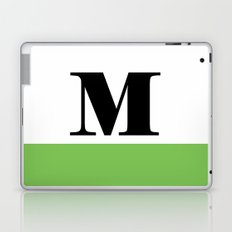 Monogram Letter M (color block) Laptop & iPad Skin