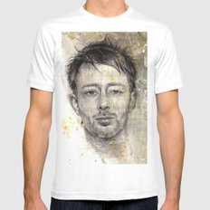 Thom Yorke MEDIUM Mens Fitted Tee White