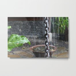 Chain in the Rain Metal Print