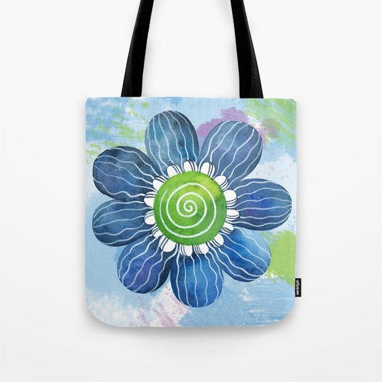 Blue Whimsy Tote Bag