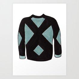 Season 2, Episode 10 (full sweater) Art Print