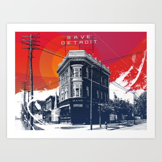 Save Detroit Art Print