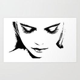 Girl silhouette Art Print