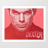 dexter Art Prints featuring DEXTER by Hands in the Sky