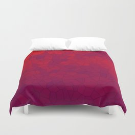 Mosaic Red Red Wine Duvet Cover