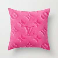 lv Throw Pillows featuring Pink LV by I Love Decor