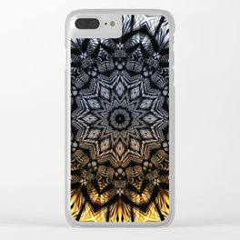 Touch of golden glow Clear iPhone Case