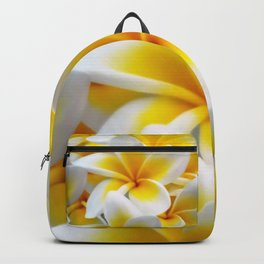 Frangipani halo of flowers Backpack