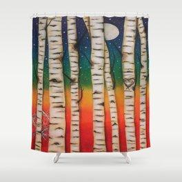 CHAKRA RAINBOW FOREST Shower Curtain