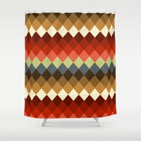 spice Shower Curtains featuring Spice by Moki