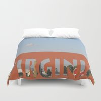 virginia Duvet Covers featuring Virginia by Ellies Wonder