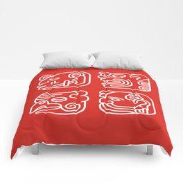 Mayan Glyphs ~ Heads Comforters