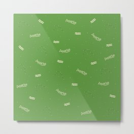 Aquarius Pattern - Green Metal Print