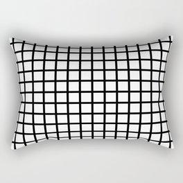 Grid (Black & White Pattern) Rectangular Pillow