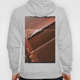 geometrical abstrac art copper colored metal texture Hoody