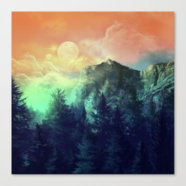 sunset forest 1 Canvas Print