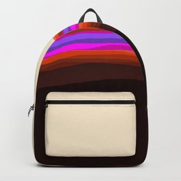 Orange, Purple, and Cream Abstract Backpack