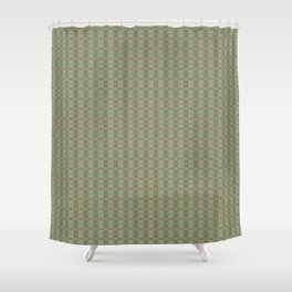 Holiday Greens & Ornaments Shower Curtain