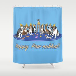 Happy Paw-nukkah! - Happy Hannukah Shower Curtain