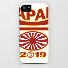 Japan 2019 Rugby Ball Pagoda iPhone Case
