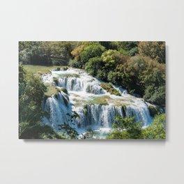 Waterfall in Krka National Park - Croatia Metal Print