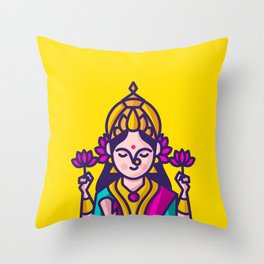 Lakshmi - The Goddess of Wealth Throw Pillow
