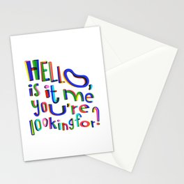 Is it me you're looking for? Stationery Cards