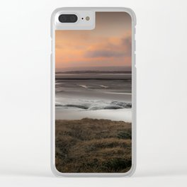 Penclawdd marsh sunset Clear iPhone Case