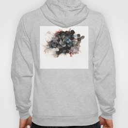 alcohol ink - pitch black 2 Hoody
