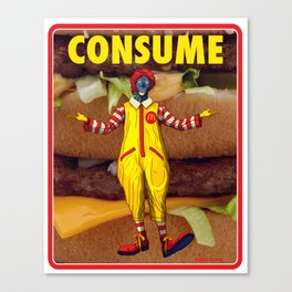 The Clown Prince of Fast Food Burgers - They Live Canvas Print