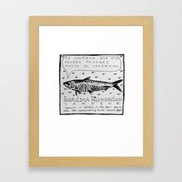 Sardine - Memorias de Pez Framed Art Print