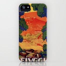 Vintage Italian travel Fiuggi springs iPhone Case