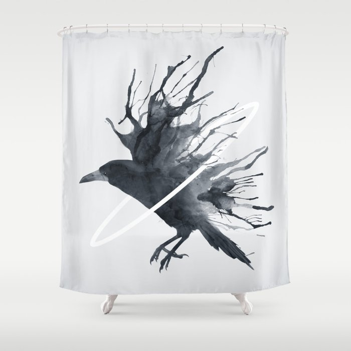 Charmant Raven Shower Curtain