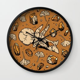 Triceratops Rocks! | Citrine Quartz Wall Clock