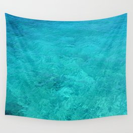 Clear Turquoise Water Wall Tapestry