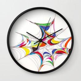 Curvilinear Webbed Form II Wall Clock