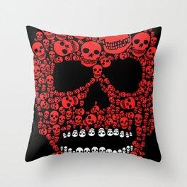 Head Dead Scull Throw Pillow