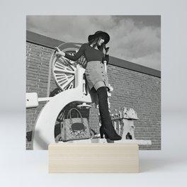 LARA LAY - Industrial Fashioned Girl Mini Art Print