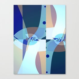 Abstract Fractal Art - Quistere- Cubism- Picasso Art Canvas Print