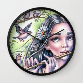 Birdsong Fairy Wall Clock