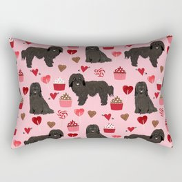 Havanese black coat cupcakes valentines day love dog breed gifts pure breed must haves Rectangular Pillow