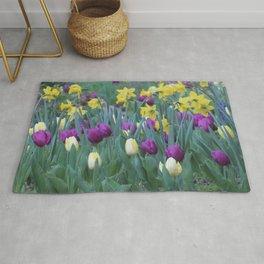 Spring Tulip Garden Rug