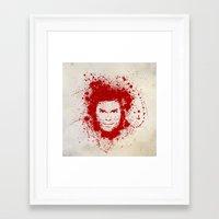 dexter Framed Art Prints featuring Dexter by David