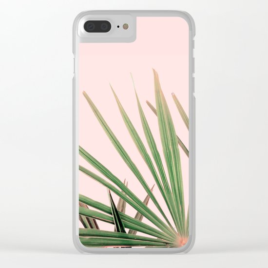 Palms blossom Clear iPhone Case