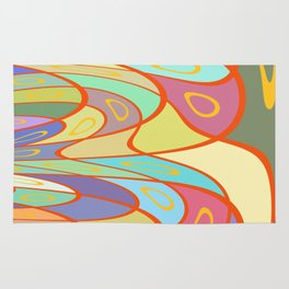 Distorted squares and circles Rug