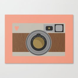 Retro camera print Canvas Print