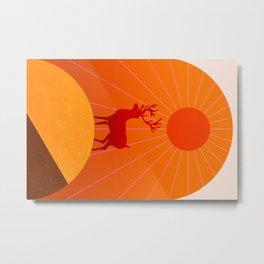 Abstraction_Sunshine_Deer_Minimalism_001 Metal Print