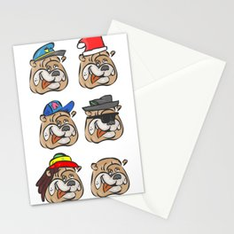 Full dogs Stationery Cards