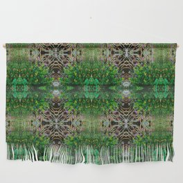 Cocoplum and Cattails op nature pattern Wall Hanging